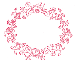 royalty free images wreaths embroidery pattern the