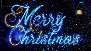 merry animation luminous lettering with decorative