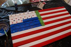 How To Paint American Flag Make A Pottery Barn Inspired Flag