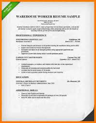 Resume Examples Warehouse by 11 Warehouse Cv Example Park Attendant