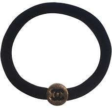 ponytail holder bracelet chanel black gold ponytail holder or bracelet hair accessory tradesy