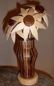 wooden flowers wooden flowers and vase by jim finn lumberjocks