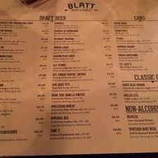 blatt beer and table menu photos for blatt beer table menu yelp