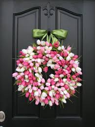 tulip wreath tulip wreath front door wreath door wreaths
