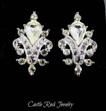 ora earrings signed ora vintage silver and rhinestone back earrings by