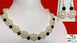 pearl bead necklace diy images 14 how to make pearl beaded necklace diy jewellery making jpg