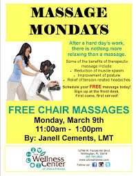 Combination Color Massage Chair Simple Chair Massage Flyer Design Sample Flyers For
