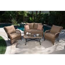 Patio Furniture From Walmart by 399 Walmart Vineyard 4 Piece Patio Conversation Set Brown