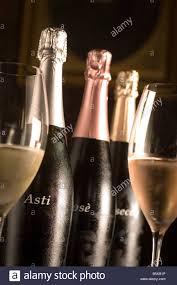 asti champagne asti spumante bottle gancia cellar canelli piemonte italy stock