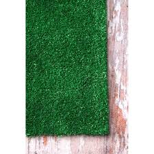 Fake Grass Mats Patio Nuloom Artificial Grass Outdoor Lawn Turf Green Patio Rug 5 U0027 X 8