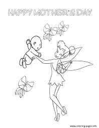 tinkerbell mothers coloring pages printable