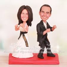taekwondo martial arts wedding cake toppers