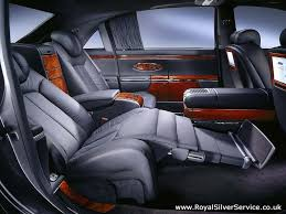 luxury cars inside maybach 62 chauffeur hire