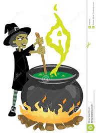 witch preparing magic potion stock photo image 16081580