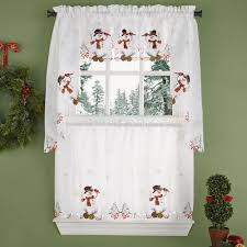 Lorraine Curtains Snowman Kitchen Tiers Swag And Valance Lorraine Home Fashions