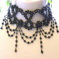 black beaded choker necklace images Black beaded gothic choker necklace by claires accessories jpg