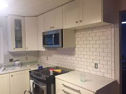 kitchen backsplash subway tile subway tile backsplash step by step tutorial part one hometalk
