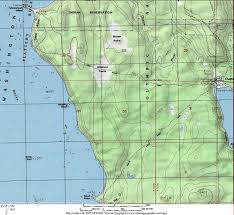 Washington State Topographic Map by Cape Alava The Kalebergs