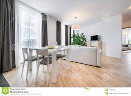 wide view of living room in scandinavian style stock photo image