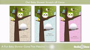 baby shower scratch owl baby shower scratch