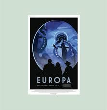 europa nasa poster nasa wall decal jupiter s moon zoom