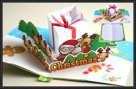 Paper Craft Christmas Cards - new paper craft christmas pop up card paper craft free template