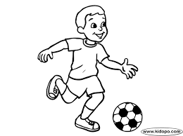 boy soccer player 09 coloring
