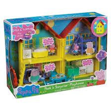 fisher price peppa pig peppa u0027s peek u0027n surprise playhouse playset