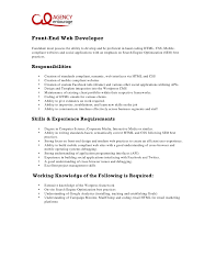 Resume Sample For Programmer by Web Developer Resume Examples Sample It Resume Objectives It