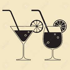 cartoon martini cocktail glasses royalty free cliparts vectors and stock