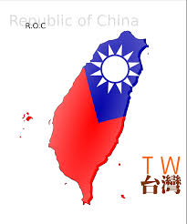 Map Of Taiwan Clipart Map Based Flag Of Taiwan