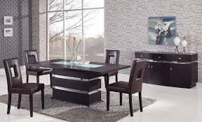 contemporary dining room sets 55 dining table set contemporary extendable clear glass top leather