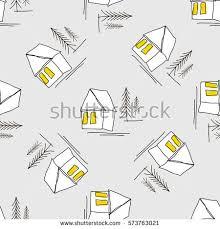 pattern drawing illustrator vector illustrator graphic minimalist pattern village stock vector