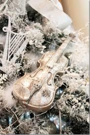 violin tree ornament decore