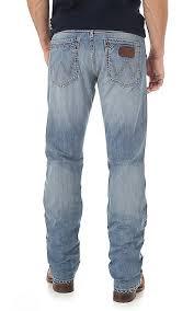 wrangler light blue jeans wrangler retro men s light wash slim fit straight leg open pocket