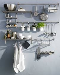 Stainless Steel Kitchen Shelves by Grundtal Series Offers Space Saving Stainless Steel Organization