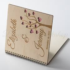 personalised wedding guest book wedding guest book tree wedding guest book beaver workshop