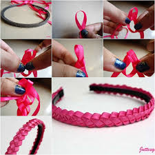ribbon hair bands diy easy braided ribbon hairband fab diy