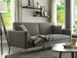 canapé 3 places tissu gris canapé design 3 places convertible en tissu gris munio