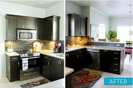 How To Make Kitchen Cabinets Look New Diy Small Kitchen Cabinets Remodel Before And After Creativehozz