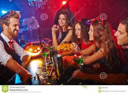 clubbing at halloween stock photo image 58418568