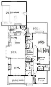 Floor Plan For Bungalow Perfect For Narrow Lots Hwbdo10424 Bungalow House Plan From