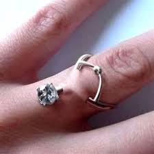 nerdy wedding rings nerdy engagement rings 5 piercing engagement ring 3565