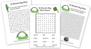 free st patrick u0027s day printables and packets math worksheets