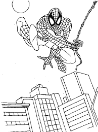 spiderman coloring pages print kids