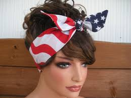 retro headbands american flag headband 4th of july headband dolly bow retro