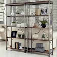 bookshelves metal metal bookcases on hayneedle metal bookshelves