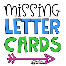 missing letter cards alphabet on activity by doodle bugs