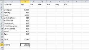 Create A Budget Worksheet How To Budget Your Money In Excel Tech Advisor