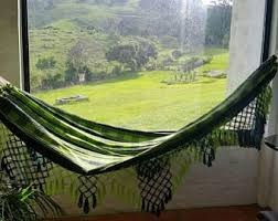 magic black magic hammock hand woven natural cotton with bell